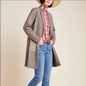 Anthropologie Graham Longline Plaid Blazer